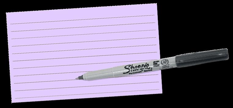 sharpie notecard